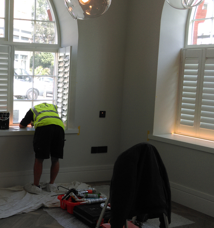 fitting shutters